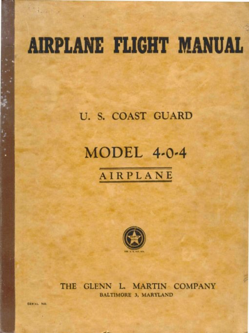 Flight Manual for the Martin 4-0-4