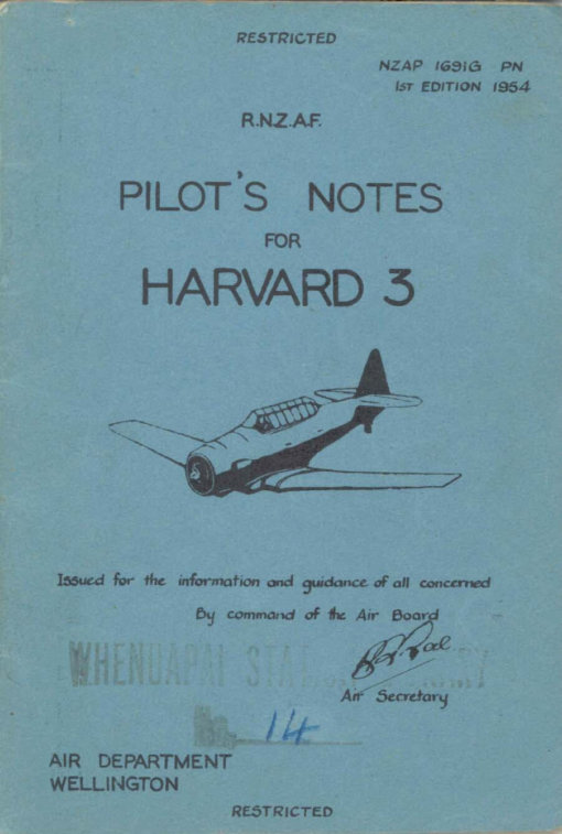 Flight Manual for the North American AT-6 SNJ Texan Harvard