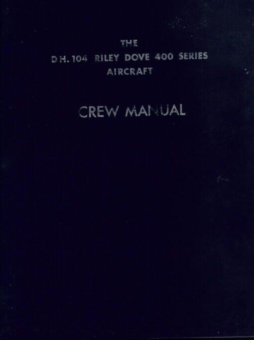 Flight Manual Pilots notes for the De Havilland DH104 Dove Devon