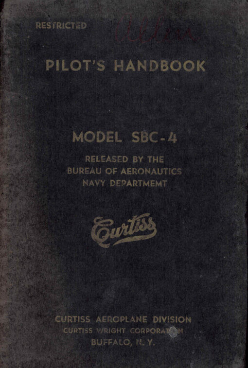 Flight Manual for the Curtiss SBC-4