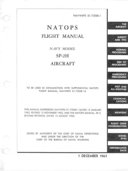 Flight Manual for the Lockheed P-2 Neptune