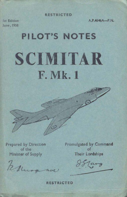 Flight Manual for the Supermarine Scimitar