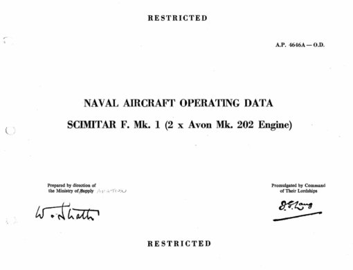 Flight Manual for the Supermarine Scimitar