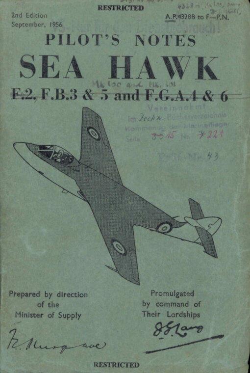 Flight Manual for the Hawker SeaHawk