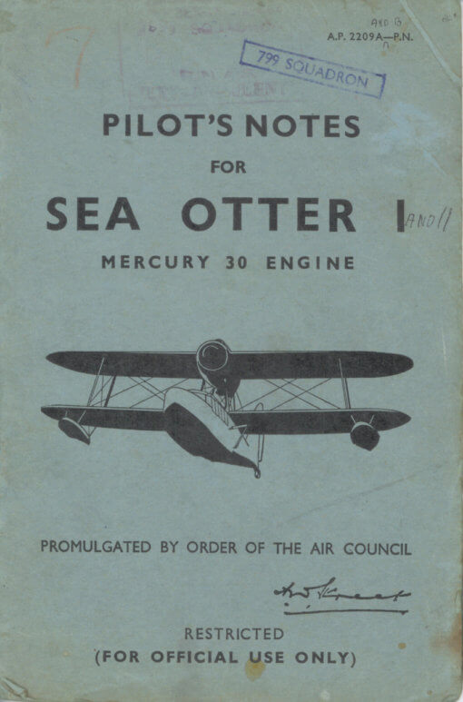 Flight Manual for the Supermarine Sea Otter