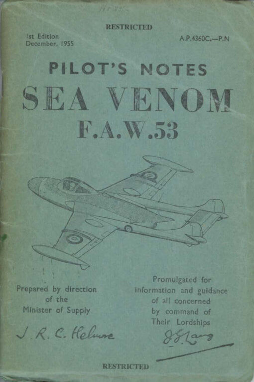Flight Manual doe the De Havilland DH112 Venom and Sea Venom