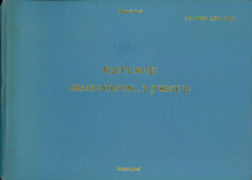 Flight Manual for the Avro 696 Shackleton