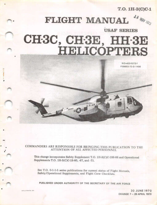 Flight Manual for the Sikorsky H-3