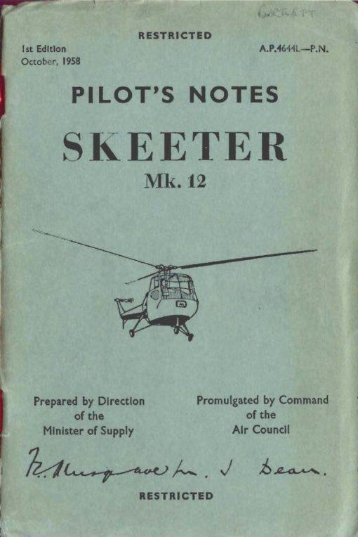 Flight Manual for the Saunders-Roe Skeeter
