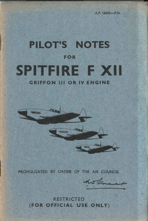 Flight Manual for the Supermarine Spitfire