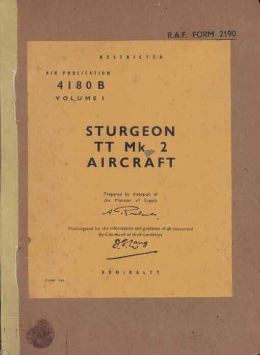 Flight Manual for the Short S38 Sturgeon