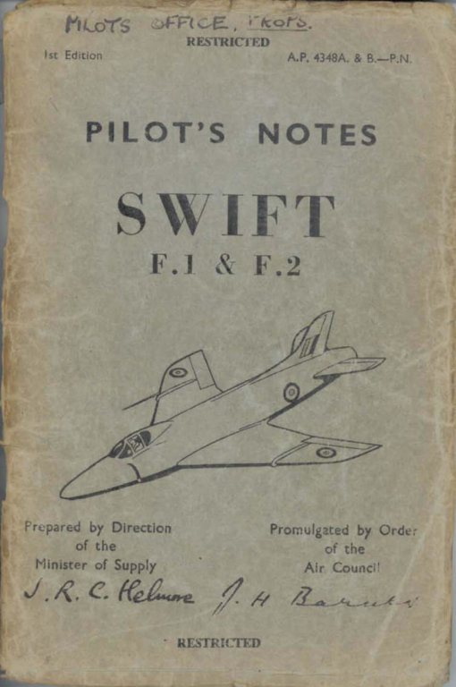 Flight Manual for the Supermarine Swift