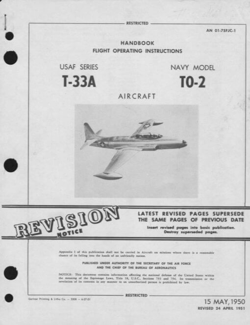 Flight Manual for the Lockheed T-33 Shooting Star