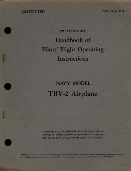 Flight Manual for the Consolidated TBY-2 Seawolf
