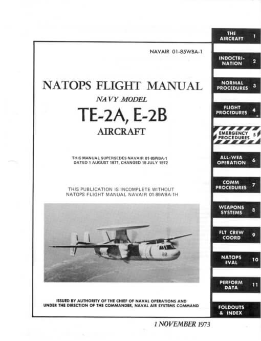 Flight Manual for the Grumman E-2 Hawkeye