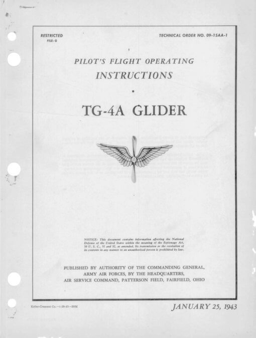 Flight Manual for the Laister-Kaufman TG-4