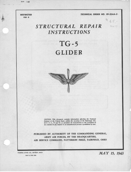 Flight Manual for the Aeronca TG-5