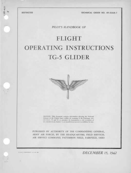Flight Manual for the Aeronca TG-5