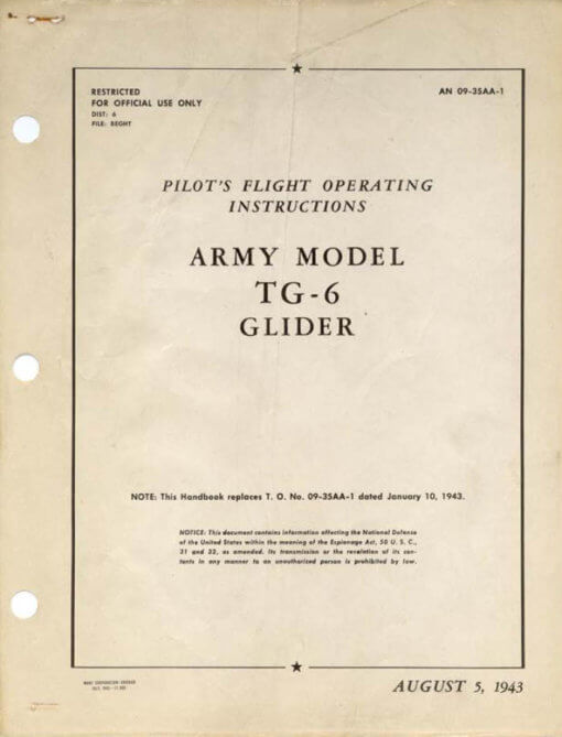 Flight Manual for the Taylorcraft TG-6