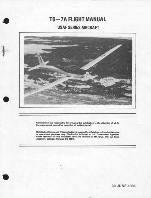 Flight Manual for the Schweizer TG-7