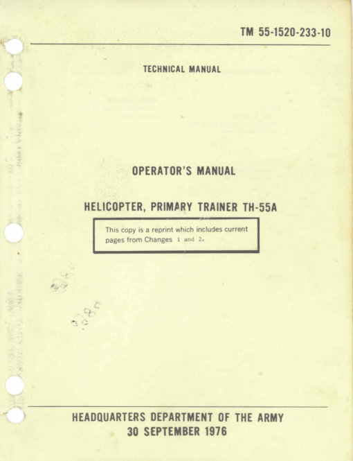 Flight Manual for the Hughes 269 TH-55