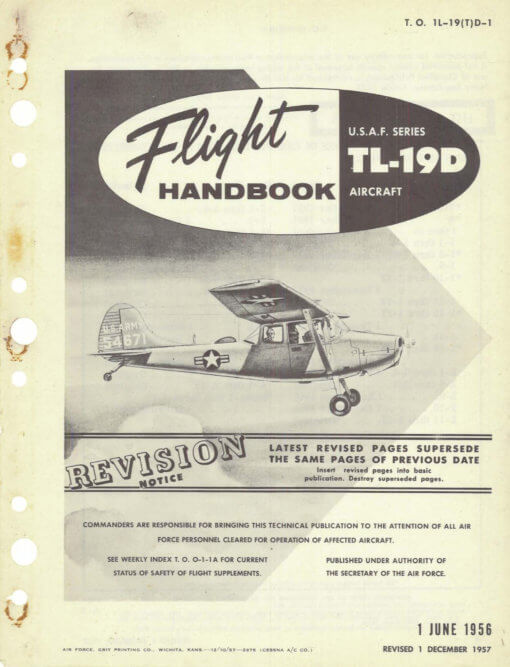 Flight Manual for the Cessna O-1 L-19 Birddog