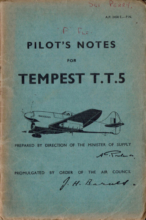 Flight Manual for the Hawker Tempest