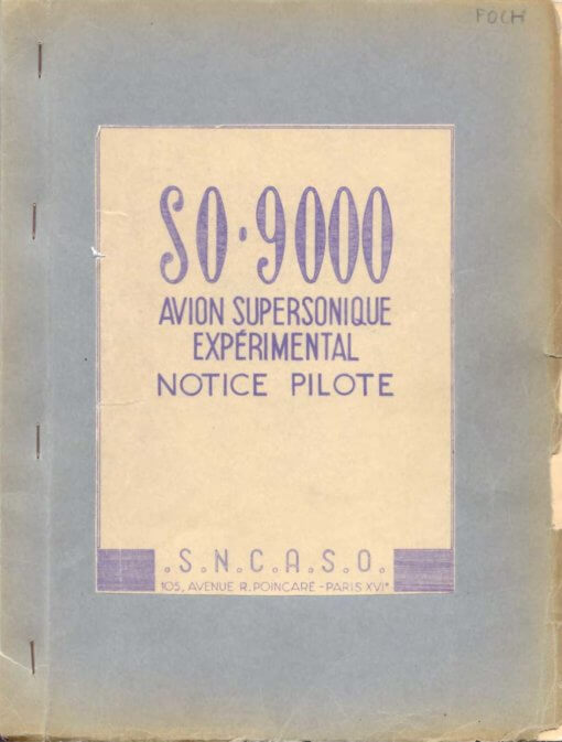 Flight Manual for the Sud Ouest SO-9000 Trident