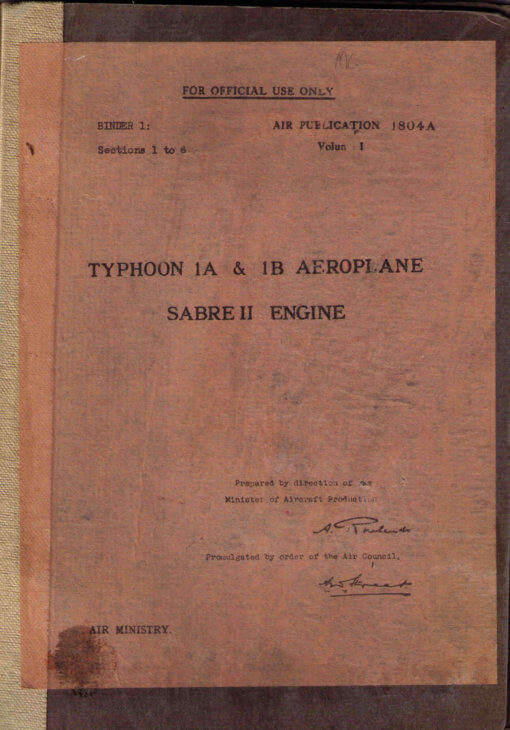 Flight Manual for the Hawker Typhoon