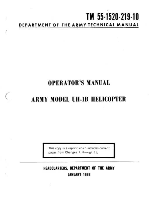 Flight Manual for the Bell UH-1 Iroquois