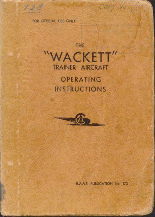 Flight Manual for the Commonwealth Wackett