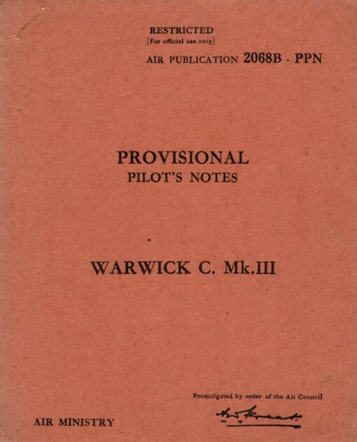 Flight Manual for the Vickers Warwick