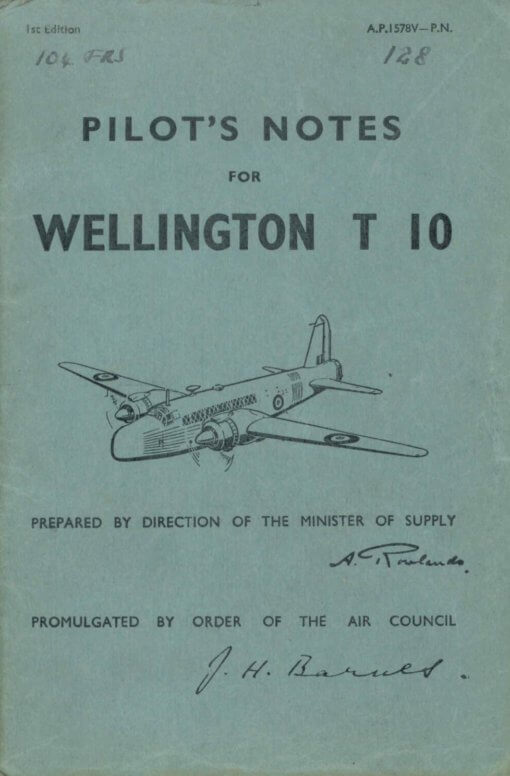 Flight Manual Pilots Notes for the Vickers Wellington