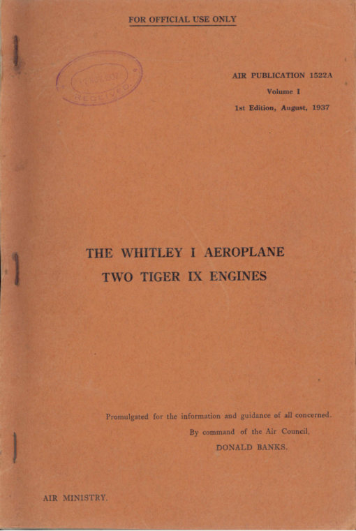 Flight Manual for the Armstrong Whitworth Whitley