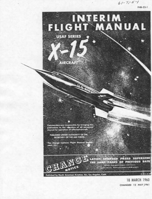 Flight Manual for the North American X-15