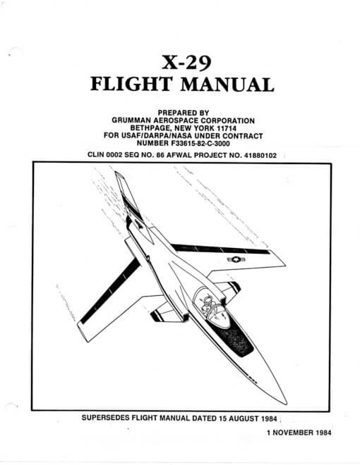 Flight Manual for the Grumman X-29