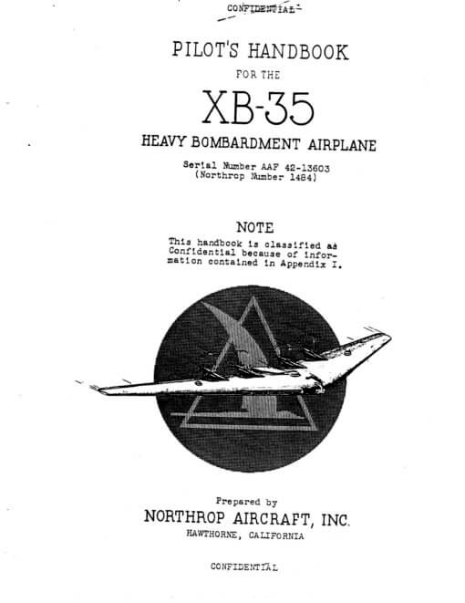 Flight Manual for the XB-35 Flying Wing