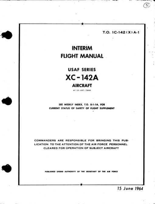 Flight Manual for the Bell X-22A