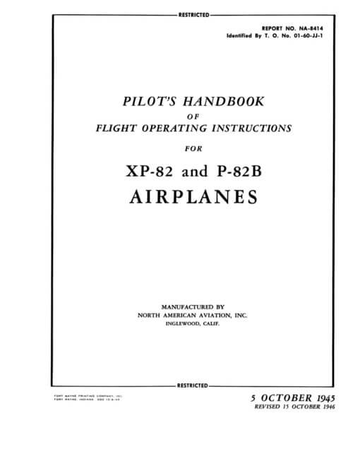 Flight Manual for the North American F-82 Twin Mustang
