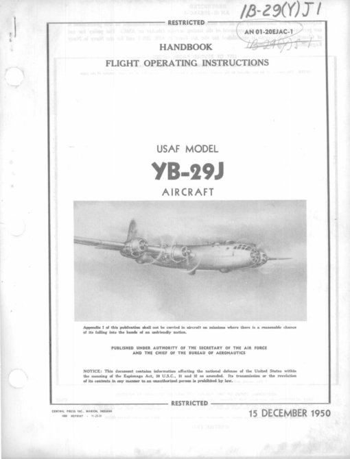 Flight Manual for the Boeing B-29 SuperFortress