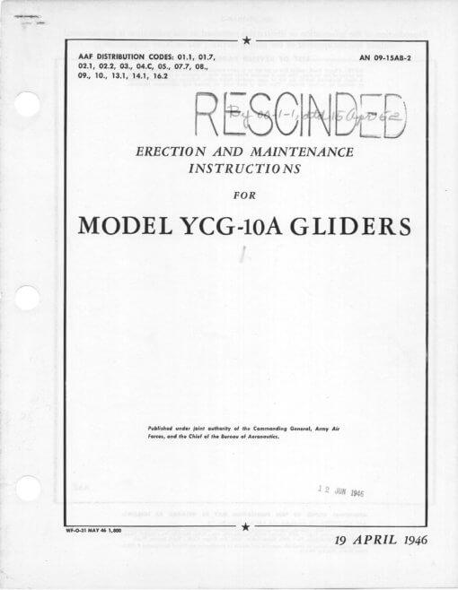 Flight Manual for the Laister-Kaufman CG-10