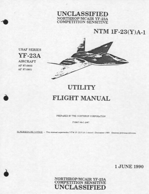 Flight Manual for the Northrop YF-23