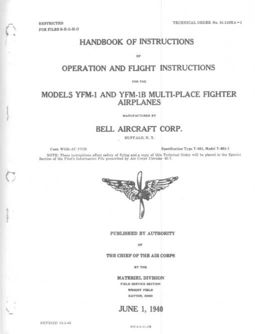 Flight Manual for the Bell YFM Airacuda