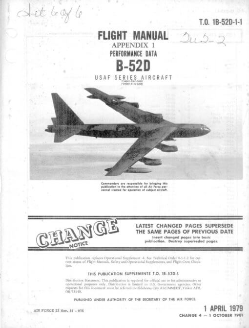 Flight Manual for the Boeing B-52 Stratofortress