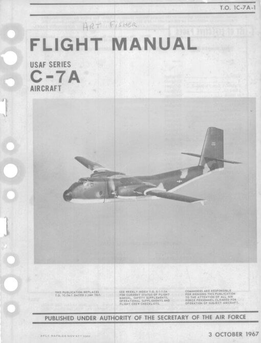 Flight Manual for the De Havilland Canada DHC-4 Caribou