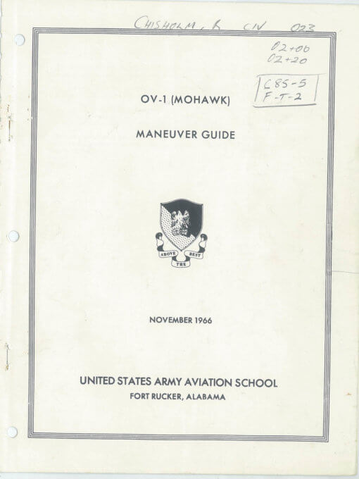 Flight Manual for the Grumman OV-1 Mohawk