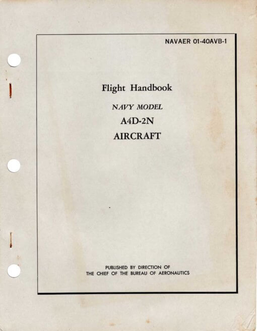 Flight Manual for the Douglas A-4 Skyhawk