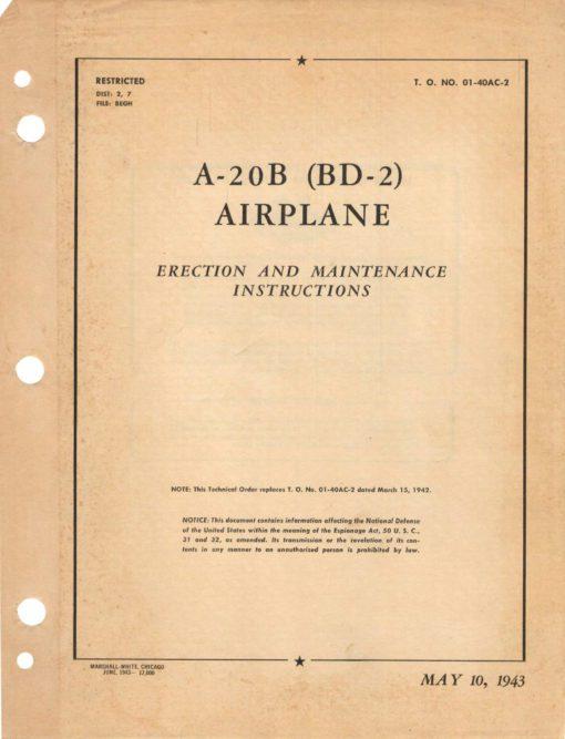 Flight Manual for the Douglas A-20 BD-2 Havoc