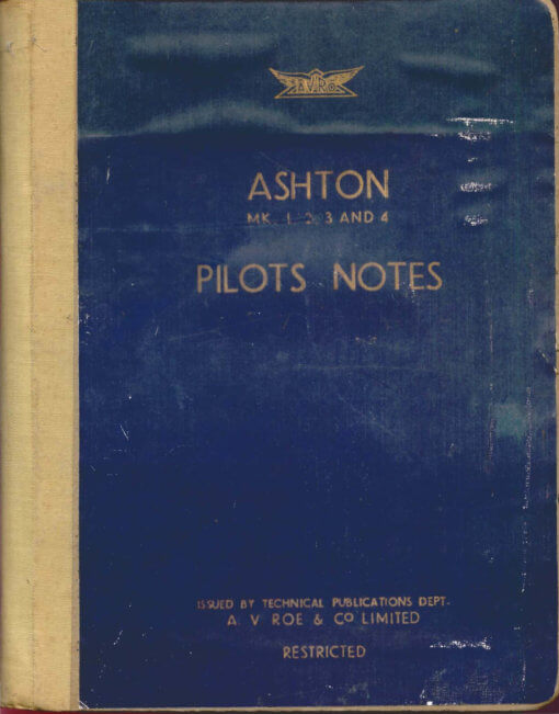 Flight Manual for the Avro 688 Tudor