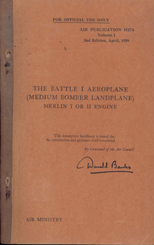 Flight Manual for the Fairey Battle